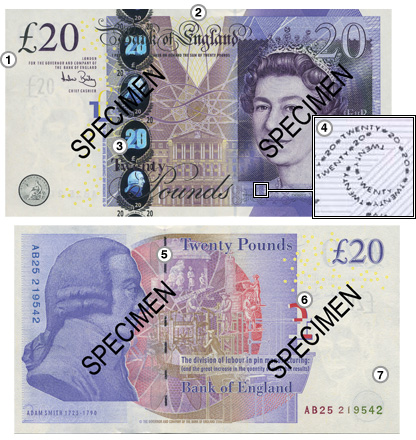 The new Adam Smith £20 note