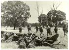 Australian militiamen of the 36th Battalion on manoeuvres, Seymour, Victoria, December 1939.  The militia units deployed to New Guinea in 1942 were woefully unprepared for either the Japanese or the jungle and suffered accordingly.  Such training as was undertaken prior to December 1941 involved outdated equipment and reflected the lessons of the First World War in Europe instead of anticipating the requirements of the coming war in the Asia-Pacific.