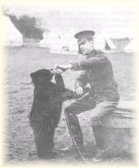Lieutenant Coleburn with Winnie the Bear