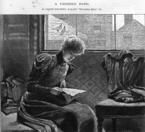 Illustration for the first part of A Vanished Hand, from the Girl's Own Paper, October 7th, 1893