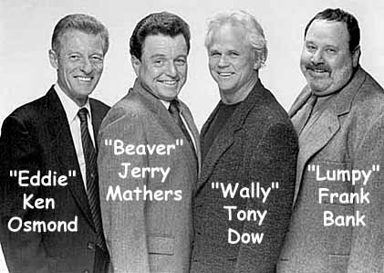 Ken Osmond, Jerry Mathers, Tony Dow, Frank Bank in 1998