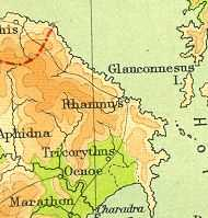 Old Map of Rhamnous