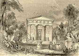 Fanciful Reconstruction of the Temple of Nemesis at Rhamnous