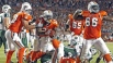 Miami's Ronnie Brown celebrates after