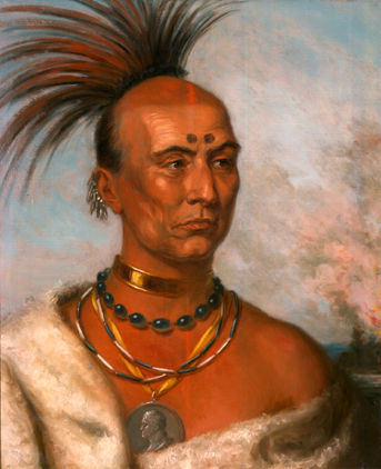 'Black Hawk.'  Painting by Charles Bird King, 1833.