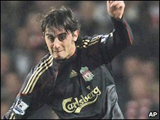 Liverpool midfielder Alberto Aquilani makes his return after an ankle injury
