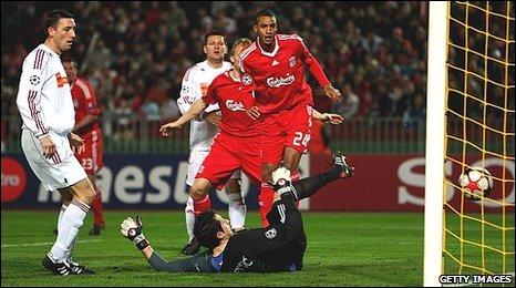 Liverpool striker David Ngog