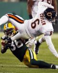 Bears Packers Football - Jay Cutler, Nick Collins