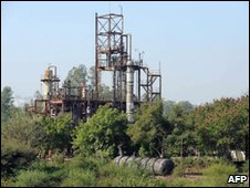 The abandoned Union Carbide plant in Bhopal, pictured on 2 December 2009