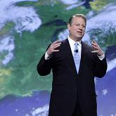 Al Gore speaking on climate change