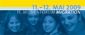 Logo des 11. Medienforums Migration beim Südwestrundfunk Stuttgart