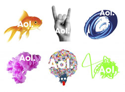 Aol's new logo.
