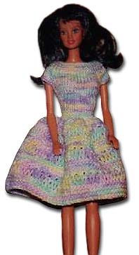 Knitted Basic Barbie Dress