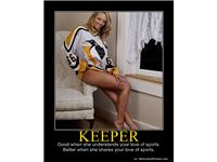 KEEPER - Good when she understands your love of sports.