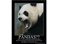 PANDAS?? - WTF?? Who cares about stupid pandas?