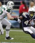 Jets Chargers Football - Jim Leonhard, Darren Sproles