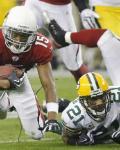 Packers Cardinals Football - Charles Woodson, Steve Breaston