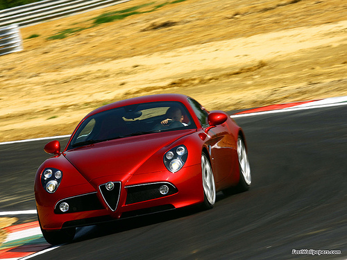 Alfa Romeo 8c Competizione by fastwallpapers.