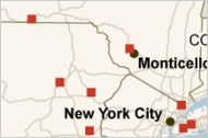 Location of Gambling Facilities in Five Northeastern States