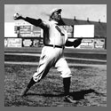 Cy Young throwing a ball.