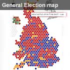 General election 2010 political map