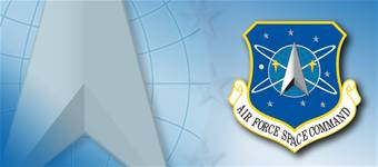 Air Force Space Command shield, fact sheet graphic