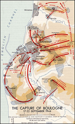 Map 7.--The Capture of Boulogne, 17-22 September 1944