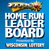 Home Run Leader Board presented by Wisconsin Lottery