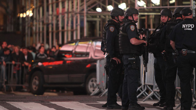"New York City Mayor Michael Bloomberg says a sport utility vehicle in Times Square had ""bomb-making material."""