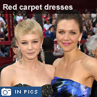 Oscars 2010: red crapet dresses