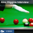 alex higgins interview in video