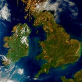 Aerial View of British Isles