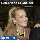 Jerry Hall. Puff - Celebrities at Chelsea Flower Show 2010