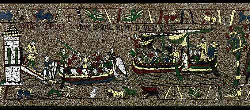 Norman boats scene from The Medieval Mosaic