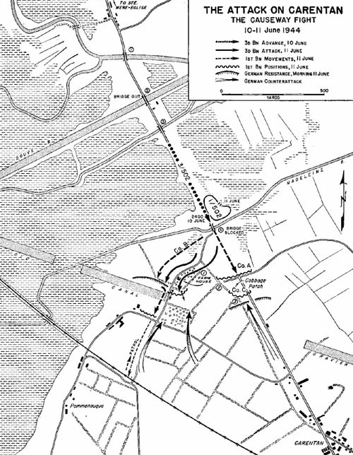Map, The Attack on Carentan
