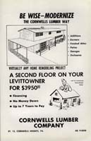 Advert for home remodeling From the Levittown Outlook, 1959.