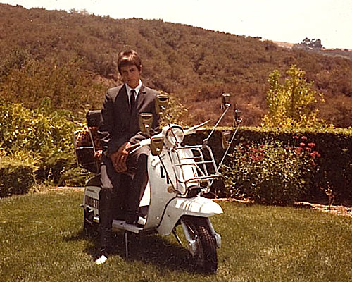 Aaron Rose as a 15 year old mod on his scooter