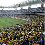 This picture taken on May 16, 2010 shows the Mbombela Stadium in Nelspruit