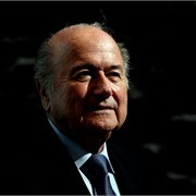 Joseph S. Blatter, President of FIFA during the 2018/2022 World Cup Bid Book Handover ceremony at FIFA Headquarters