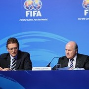 FIFA President Joseph S. Blatter at the Congress press conference.