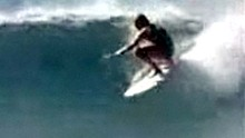 Scene from the George Greenough surfing movie, Innermost Limits Of Pure Fun
