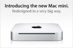 Introducing the new Mac mini. Redesigned in a very big way.