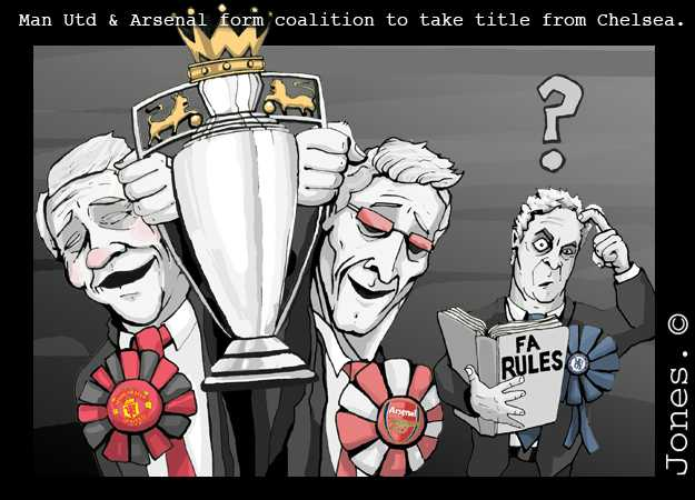Man Utd & Arsenal form coalition to take title from Chelsea