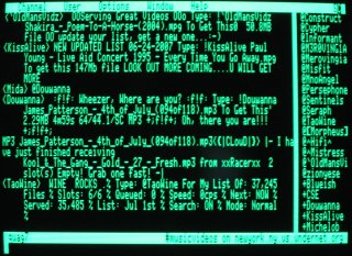 Apple IIe - irc via Rhapsody client -<br /> Undernet