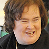 Susan Boyle arrives in Japan