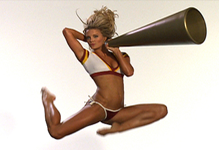 NFL Cheerleaders on Trampolines