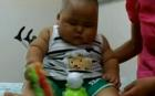A ten-month-old baby in China has grown to be as big as a six-year-old in a matter of months.