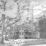 Hamilton Grange as shown in its new location, artist's rendering.