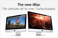 The new iMac. The ultimate all-in-one. Turbocharged.