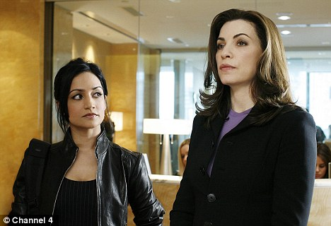Best supporting actress: Archie with co-star Julianna Margulies in The Good Wife, the role for which she was awarded an Emmy